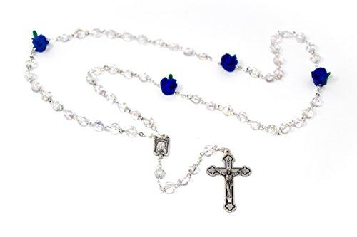 9aa344a6271 Rosario - rosa azul cristal hermoso aparición y virgen del rosario