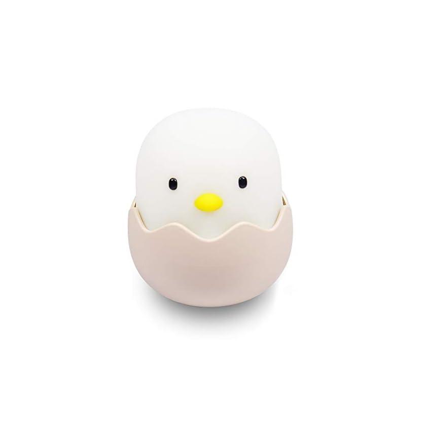 Led Nachtlicht Kinder, Kücken Schlummerleuchte Schlaflicht Kinderlampe Baby Touch Lampe mit Einstellbarer Heiligkeit für Kinderzimmer Schlafzimmer-EINWEG 1