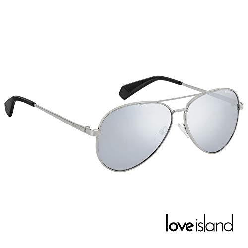 Polaroid x Love Island Mirrored Aviator in silver