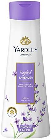 Yardley English Lavender Shower Crème, pleasing lingering fragrance, creamy formulation, Gentle cleaning, natu