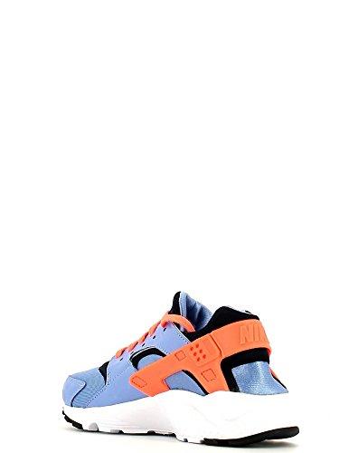 Nike Huarache Run (GS), Chaussures de Running Entrainement Fille, Noir / Rose Azul / Amarillo / Noir (Chlk Blue / Brght Mng-Obsdn-Cnry)