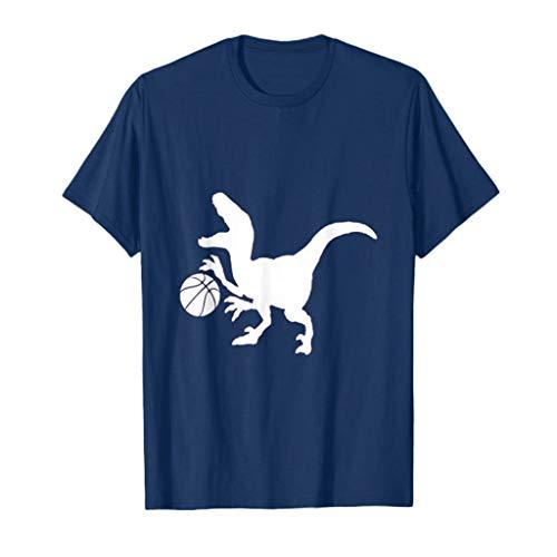 ODRD Herren Dinosaur Basketball T Shirts, Boy Shortsleeve Vintage Jugend Basketball Enthusiast T-Shirt Blouse Tops O-Neck Basic O-Ausschnitt Shirt