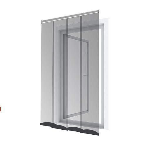 pro insect Insektenschutz Lamellenvorhang für Türen PRO 120x250cm, schwarz