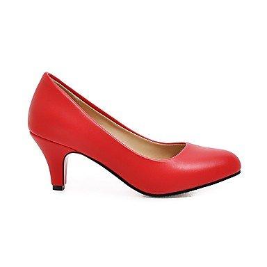 Lvyuan-ggx Womens Heels Decolleté Faux Cuir Automne Décontracté Décontracté Stiletto Blanc Noir Rouge 5 - 7 Cm Noir