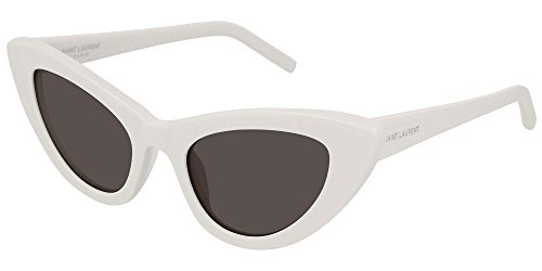 Saint Laurent SL213 005 Ivory Lily Cats Eyes Sunglasses Lens Category 3 Size 52mm