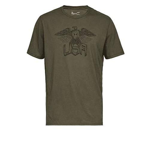 Under Armour Herren Freedom Eagle T-Shirt kurzärmelig, Marine Od Green (390)/Black, XX-Large -