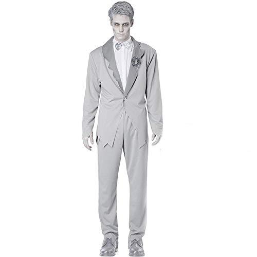 Noble Halloween Cosplay Adult Ghost Kleidung Horror Grauen Anzug Ghost Kostüm Bloody Ghost Bride Ghost Groom Men's-XL (Ghost Gent Für Erwachsenen Kostüm)