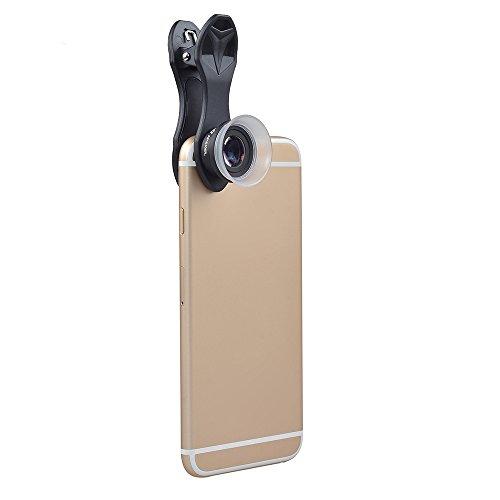 Zhuhaimei,12x 24x Makroobjektiv für iPhone/Android Smartphone, Apexel-Handy-Kameraobjektiv-Kit(Color:SCHWARZ)