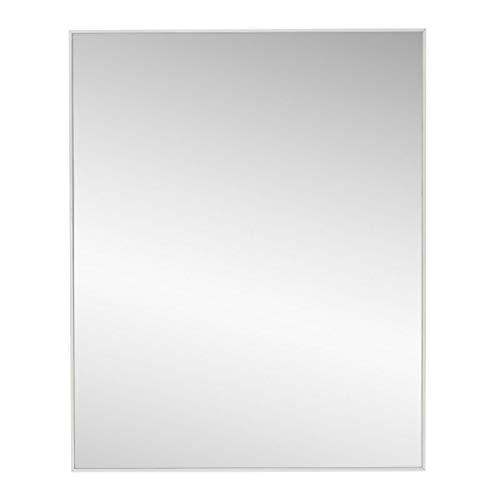 Espejo de Pared Moderno Blanco de poliestireno para la Entrada de 40 x 50 cm Basic - LOLAhome