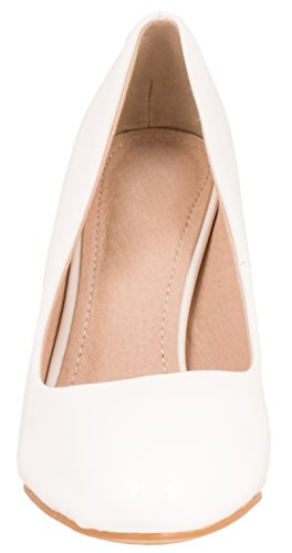 Elara Damen Pumps | Stiletto High Heels | Abendschuh Metallic White-