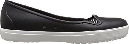 Crocs - Citilane Flat W, Zoccoli Donna Nero (Black/White)