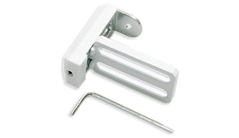 Gardinia 10004205 Hochwertiger Universal Klemmträger aus Metall, verwendbar für Rollos, Jalousien und Plissee, 2 Stück,