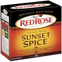 Red Rose Tea, Sunset Spice, 40 Count