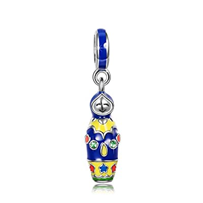 NinaQueen - Russische Matrjoschka-Puppe - Damen-Charm 925 Sterling Silber