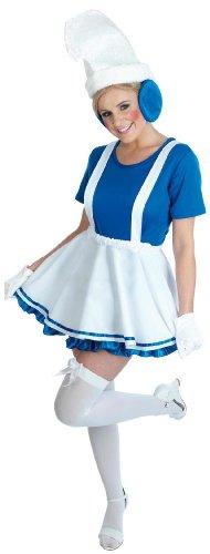 Dame Blue Gnome - erwachsenes Abendkleid-Kostüm - L