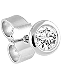 Bella Donna - Ohrstecker 635562 - Boucles d'oreille Mixte - diamant 0.05 Cts - Or blanc 585/1000 (14 cts)
