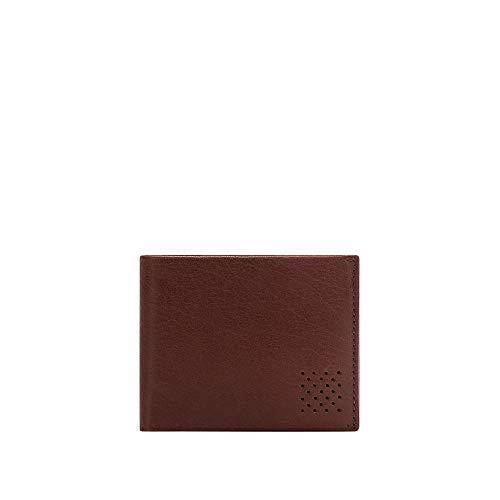 5a48ed136d DUDU Portafoglio in Pelle da Uomo Con Portamonete Sottile Slim Porta Carte  Documenti Banconote Brun