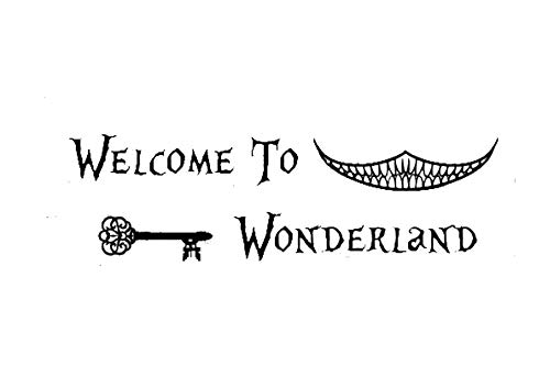 Alice in Wonderland-on Vinyl Wand Decals-Cheshire Cat Smile, Vinyl, Rose, 8x28