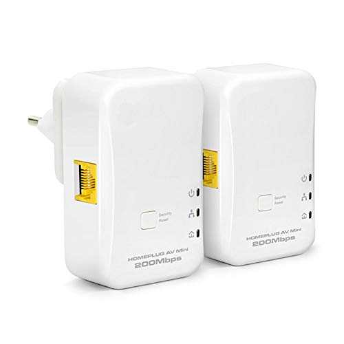200Mbit/S Mini-Ethernet-Adapter, Kompatibel Mit Allen Gängigen Power-Line-Adaptern, Leicht 300M Übertragungsabstand (Weiß)