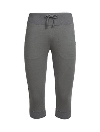 Icebreaker Damen Merino Mira Capri Pants Merino, Damen, Metall, Medium (Capri Yoga Pants Medium)