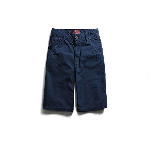 Harajuku Summer New Cargo Shorts Men Cotton Slim Fit Male Wash Vintage Short Pants Fashion Hip Hop Clothes,Blue,36 (Short Belly Button Ringe)