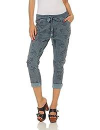 ZARMEXX Pantalones para Mujer Pantalones Informales de algodón 1341 Ropa Casual para Hombres Lavados Pantalones Deportivos