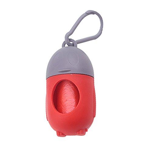 SEGRJ - Juego de bolsas de basura para mascotas con forma de pingüino, 1 dispensador de bolsas con 15 bolsas de basura, caja de basura para pañales de mascotas, ecológica Random Color