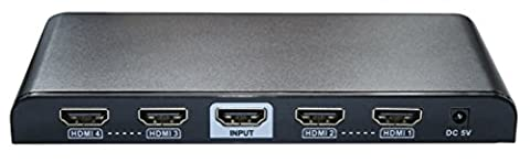 WINGONEER 2 Port HDMI Splitter/HDMI Verteiler HDMI v1.4 1 Hafen 2 mit Ultra HD 4K, (Powered Hdmi Switch)