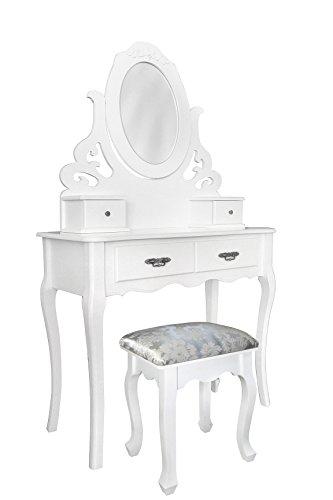 Rebecca-srl-Tocador-Mesa-4-Cajones-Taburete-Espejo-Ronda-Madera-Blanco-Chic-Elegante-Dormitorio-Bao-Cod-0-3095-12
