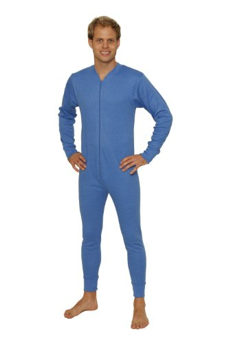 OCTAVE® Herren Thermo-Unterwäsche All in One Union Anzug/Thermo Body Medium blau (Union Thermal Anzug)