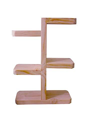 Jiniriiuirhinibdsbu Keine Notwendigkeit zu Punsch, Massivholz Mini Flower Sill Balkon Balkon Indoor Sukkulenten Schreibtisch Lagerung Multi-Layer-Bonsai-Rahmen (Farbe : Holzfarbe) (Schreibtisch Dolly)