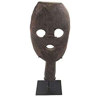 Terrapin Trading Traditional Atoni Animist Tribal Protective Paddle Mask From West Timor W/Stand