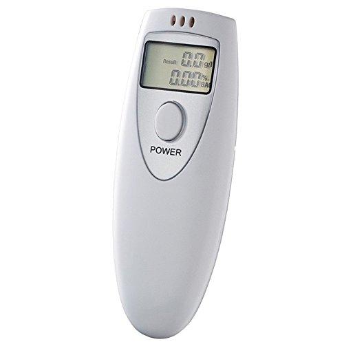 Alcoholímetro Digital Portátil Pantalla LCD Prueba Alcohol Tester Detector Blow Soplar, Electrónica Rey