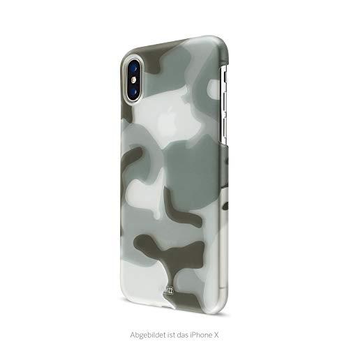 Artwizz Camouflage Clip Handyhülle für iPhone Xr - Design-Hülle im Tarnmuster-Erscheinungsbild mit Soft-Touch-Beschichtung und geschmeidigen Grip - Designed in Berlin - Classic
