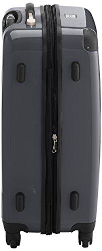 HAUPTSTADTKOFFER - Alex - 2er Koffer-Set Hartschale glänzend, TSA, 65 cm + 55 cm, 74 Liter + 42 Liter, Orange-Aubergine Rot-Titan