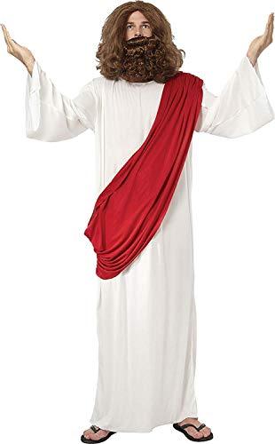 Erwachsene Weihnachtsfeier Religiös Moses Kostüm Herren Jesus mit drapiert