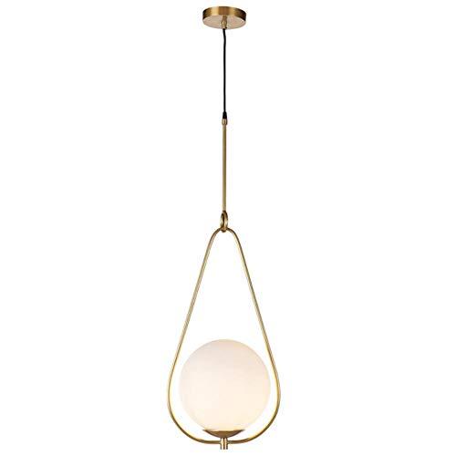 Danesa nórdica moderna Redonda Bola de cristal de la lámpara para el dormitorio Cafe Restaurante Bar accesorios de iluminación de interior de la decoración, colgante de oro 4, Dia200mm # 967