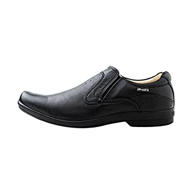 Red Chief Men RC5079 Black Leather Loafers 11 UK