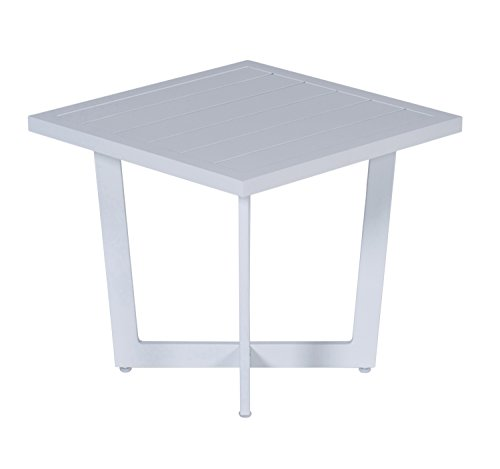 Garden Impressions 07042GT Side Table, Mat Weiß, 47,5 x 47,5 x 42 cm