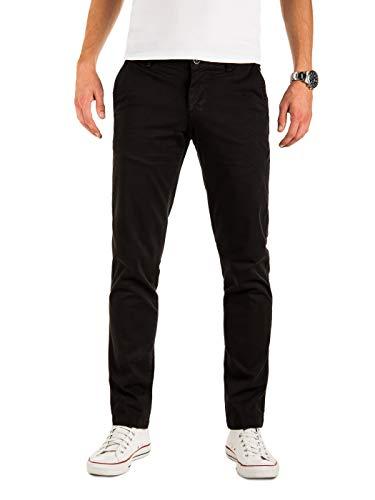 Yazubi Männer Chino Hosen - Modell Malphite by Yzb Jeans - Chinohose Stoff - Schwarze Herren Chinohosen, Schwarz (Black 194008), W33/L30 Co Black Jeans