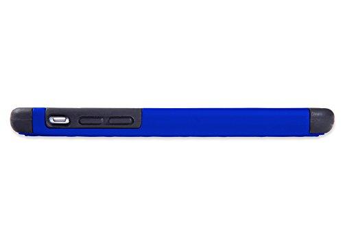iPhone 6 Cover Case Protettiva - Trasparente - Azzurro - SILICONE - TPU - antiurto, Antigraffio - By SWISS-QA (iPhone 6 6S 4.7) Cover - CASTEL - Azzurro