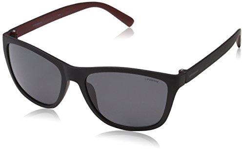 Polaroid Herren PLD 3011/S Y2 LLQ Sonnenbrille, Schwarz (Matte Black Dark Red/Grey Pz), 57