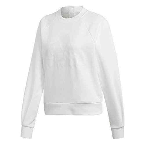 adidas Damen ID Glory Crew Sweatshirt, weiß, m Weißen Pullover