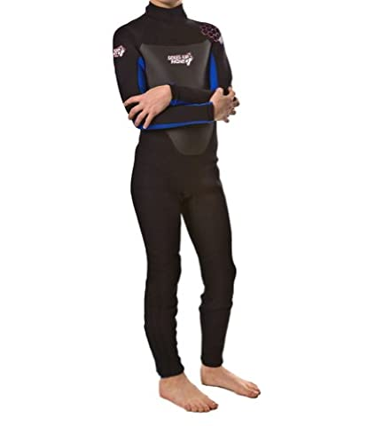 k9 (8-9Y blue) Childrens Full Length Wetsuit by Soles Up Front. 2mm Neoprene. Ideal for UV protection for your child. Take your kids Swimming, Surfing or just great Beach wear. Available in a FULL range of Sizes 1y 2y 3y 4y 5y 6y 7y 8y 9y 10y 11y 12y 13y 14y 15y and colours Red Blue Yellow Pink. Ideal for Holiday or birthday gift for boys or