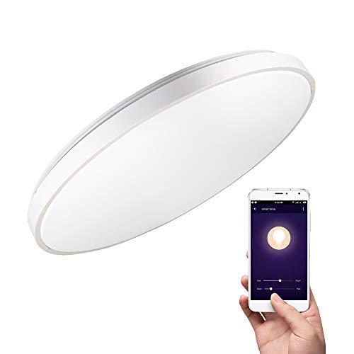 Deckenleuchte mit Alexa Smart WiFi Deckenlampe, 36W, Ø 50CM, dimmbar, steuerbar via App,kompatibel mit Amazon Alexa (Echo, Echo Dot) und Google Home