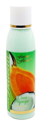 Hawaii Forever Florals Body Lotion 4 Bottles 4 oz. Each Coconut Papaya by Forever Florals