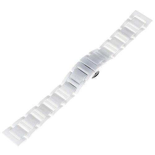 TRUMiRR 20mm Vollständige Keramik Uhrenarmband Schmetterling Buckle Strap für Samsung Gear S2 Classic (SM-R732 / R735),Huawei Uhr 2 (Sport), Moto 360 2 42mm Herren, Pebble Time Runde 20mm, Bradley Uhren,...