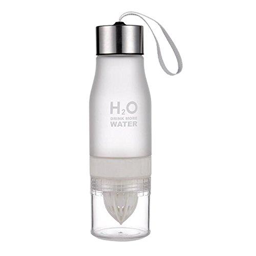 Weiß Manuelle Auswahl (B Blesiya Manuelle Saftpresse Wasserflasche, viele Farbe Auswahl - Weiß)