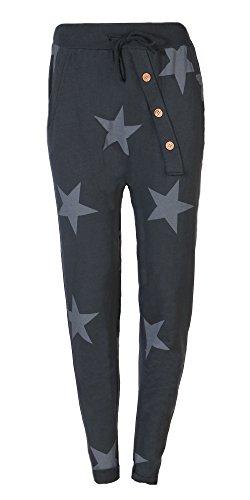 FASHION YOU WANT Jogginghose Sweatpants Sterne Boyfriend Ali Baba Style (46/48, J02)