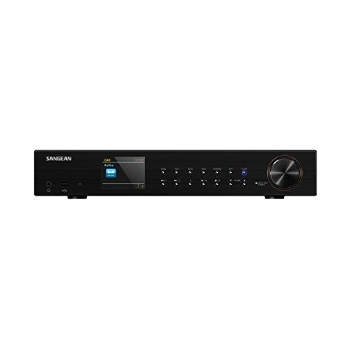 Sangean WFT-3 Internet Radio (Netzwerk Music-Player, WiFi, DAB+, Spotify-Player, USB, UKW-RDS, AUX-In, mit Fernbedienung) schwarz (Netzwerk-radio-player)